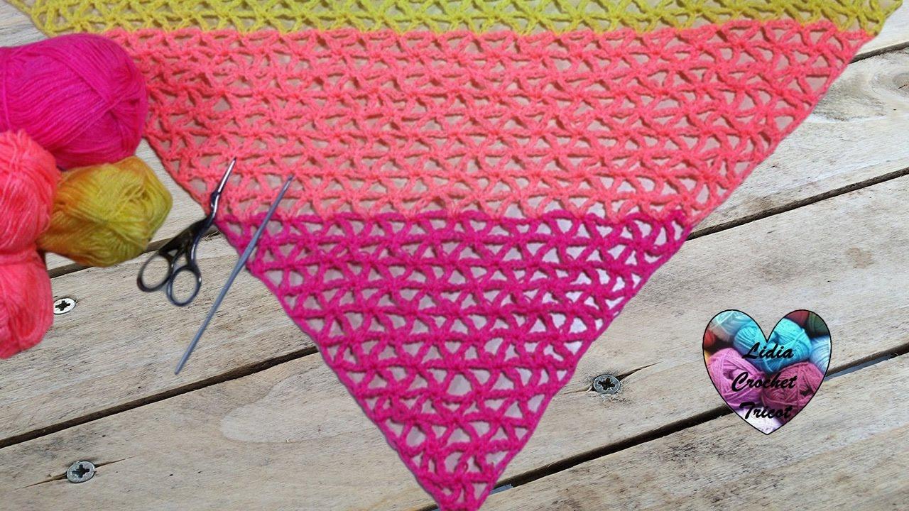 Châle tropical très facile au crochet / Chal Tropical muy fácil de tejer a crochet - YouTube