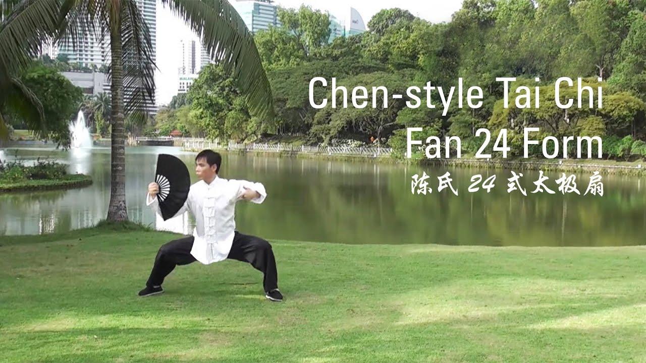 chen style tai chi fan 24 form 24 youtube. Black Bedroom Furniture Sets. Home Design Ideas