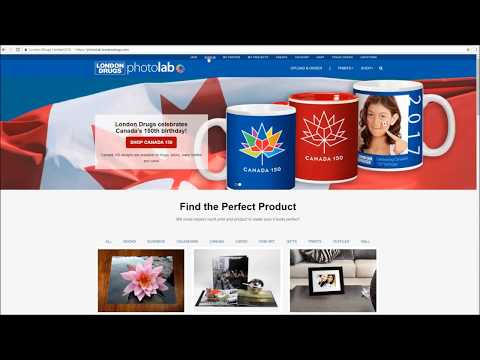 London Drugs Photolab Online Tutorial