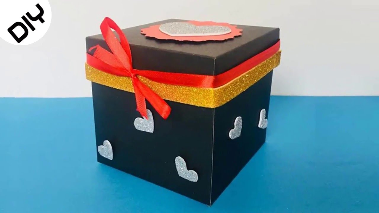 How To Make A Paper Gift Box With Lid Diy Gift Box Ideas Paper Craft Ideas 25 Youtube