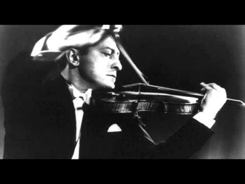 Jascha Heifetz plays Clair de Lune