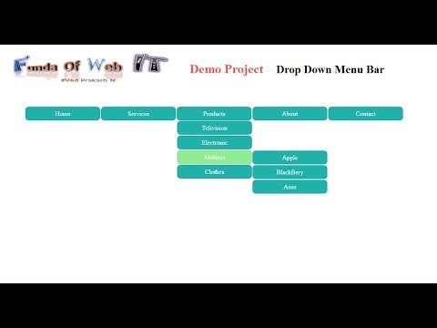 How To Make A Navigational / Dropdown Menu Bar In Asp.net