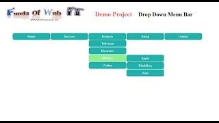 how to make a navigational dropdown menu bar in asp net