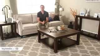 Belham Living Bartlett Square Coffee Table With Panels - Product Review Video