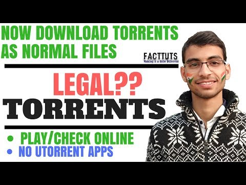 Torrents~ Legal ?? Working Explained | Trick to Download Torrent Files as Normal Downloads | Seedr |