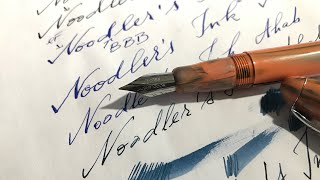 Noodlers Ahab Flexible Nib Fountain Pen vs. Zebra G