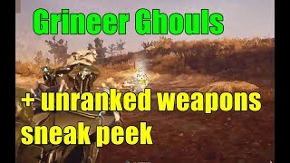 Warframe: Ghouls, Grineer Armor, New Weapons, Oh My!