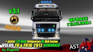 """[""""ETS2"""", """"Euro Truck Simulator 2"""", """"UPDATE truck mod"""", """"Volvo FH&FH16 2012 Reworked v3.1 by Eugene""""]"""