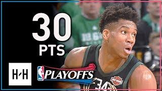 Giannis Antetokounmpo Full Game 2 Highlights Bucks vs Celtics 2018 Playoffs - 30 Pts, 9 Reb, 8 Ast
