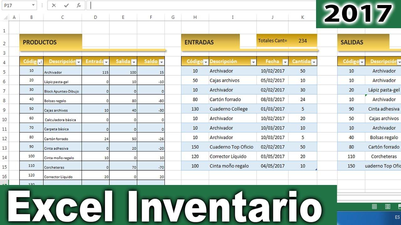 Excel - Cómo hacer un inventario de entradas y salidas en excel ...