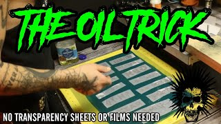 DIY PUNK Screen Printing: The Oil Hack