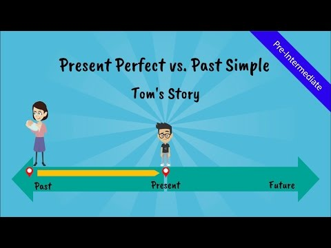 Present Perfect Tense vs  Past Simple: Tom's Story (A