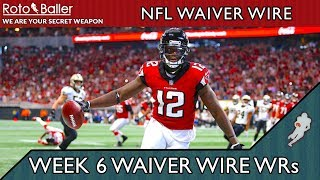 Wide Receivers Waiver Wire Pickups - Fantasy Football Week 6