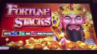 KONAMI Fortune Stacks HUGE Slot Bonus & Radiant Queen NICE Win