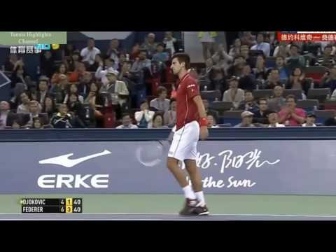Roger Federer vs Novak Djokovic   Shanghai Rolex Master 2014 Highlights HD   YouTube
