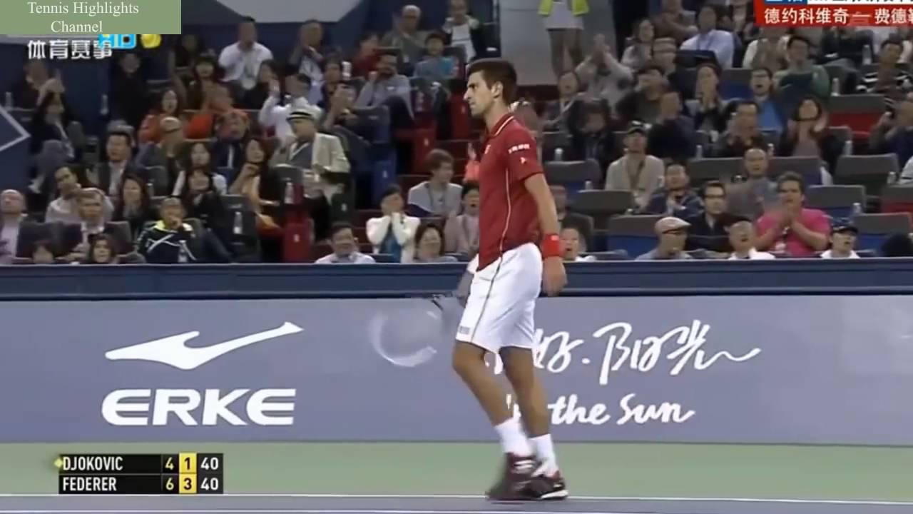 Roger Federer Vs Novak Djokovic Shanghai Rolex Master 2014 Highlights Hd Youtube Youtube