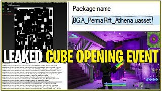 "Fortnite : LEAKED ""CUBE OPENING EVENT"" ! (Leaked Sound FX, Fichiers, et plus!)"