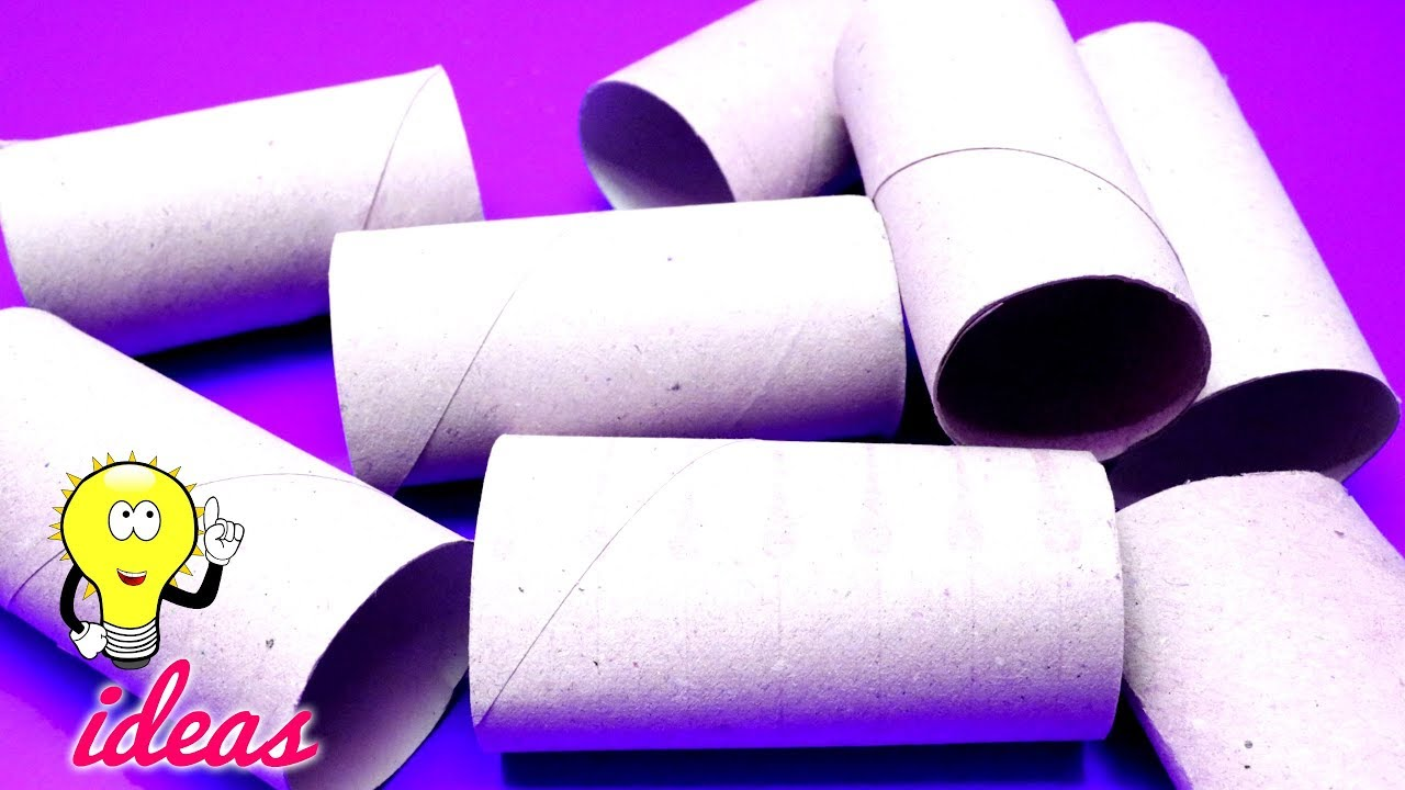 HOW TO REUSE TOILET PAPER ROLLS | Best Out Of Waste Crafts Ideas ...