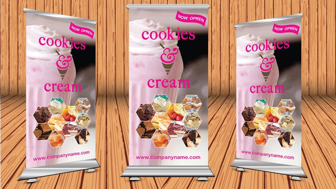 how to design a roll up banner in adobe illustrator cc