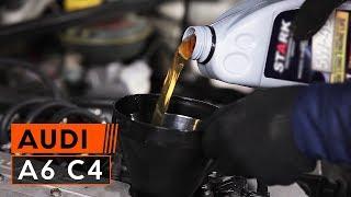 Τοποθέτησης Φίλτρο λαδιού AUDI A6 (4A, C4): δωρεάν βίντεο
