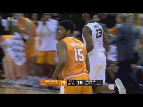Tennessee Basketball at Missouri Highlights