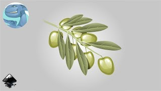 How to draw an olive branch in inkscape