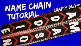 Homecoming mum NAME CHAIN TUTORIAL; straight, flat, V-cut homecoming chain/ braid