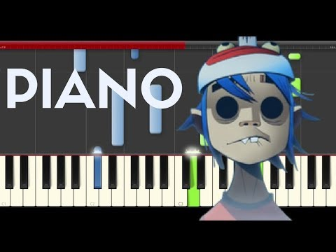Gorillaz Sleeping Powder Piano Midi tutorial Sheet app Cover Karaoke