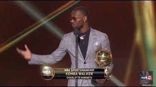 Kemba Walker wins the 2017 NBA Sportsmanship Award | NBA on TNT