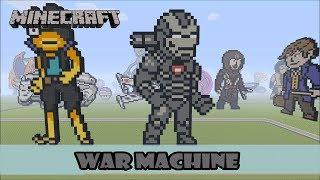 Minecraft: Pixel Art Speed Build and Showcase: War Machine (Avengers: Endgame)