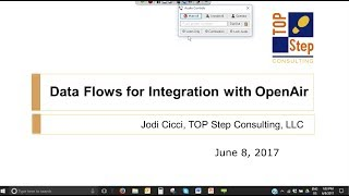 Developing Dataflows for NetSuite OpenAir Integration