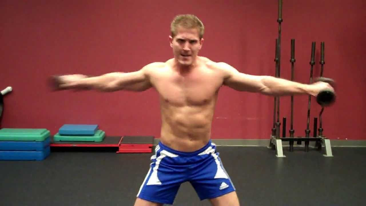 How To Standing Oblique Twists With Dumbbells Youtube