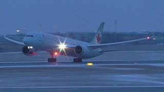 Air Canada 787-9 Dreamliner [C-FRSI] Dusk Takeoff from Calgary Airport ᴴᴰ
