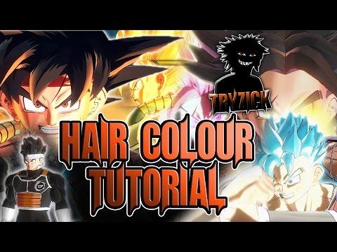 Dragonball Xenoverse 2 - Change SSJ & Bandana Colour MOD - GIMP TUTORIAL - Tryzick