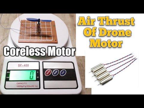 Drone Motor Air Thrust Checking, 3.7v Coreless motor