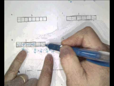fractions with tape diagrams - YouTube