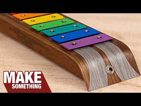 Bent Wood Lamination and Marquetry Xylophone | Woodworking Project
