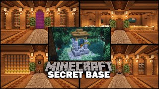 How to Build a SECRET BASE Under a Well in Minecraft! [World Download]