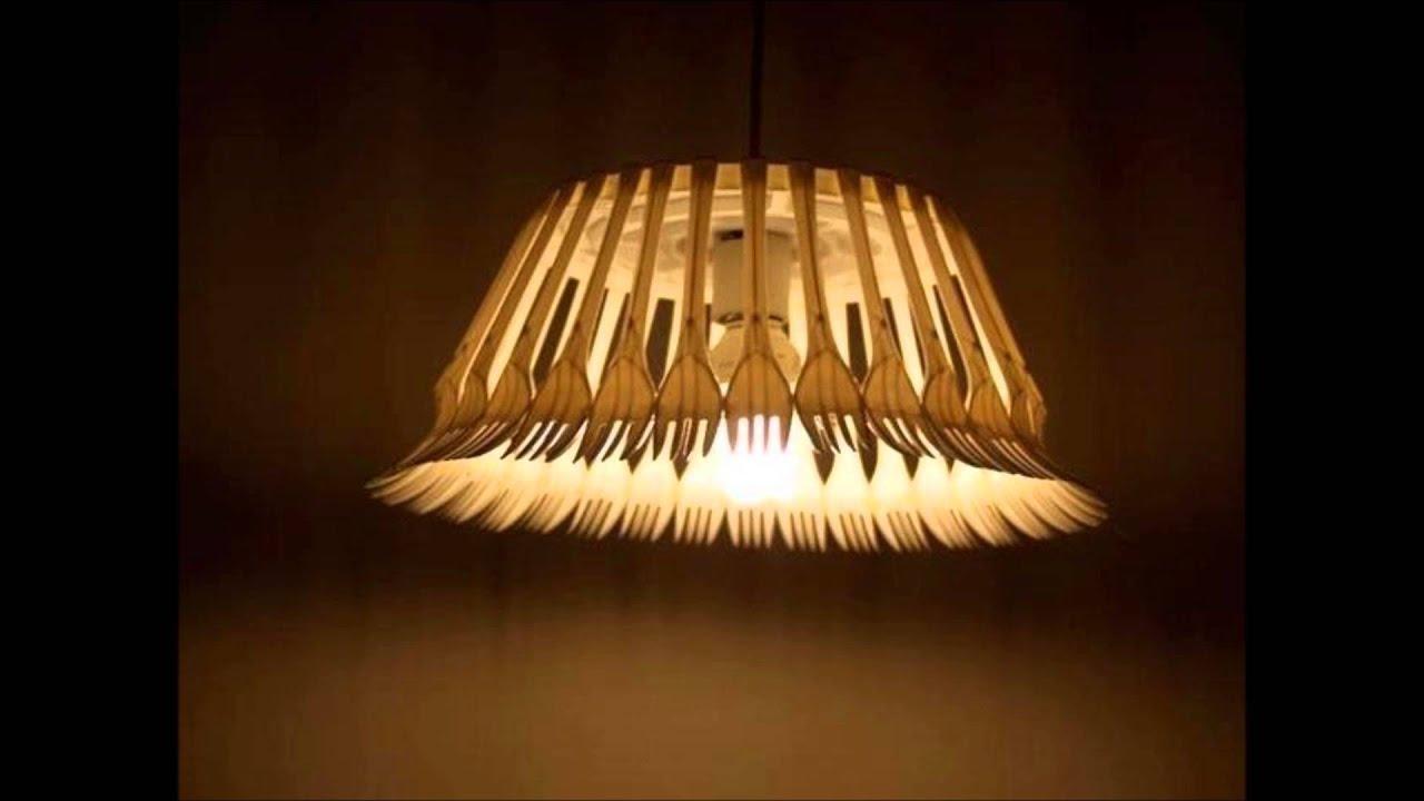 Ideas creativas para hacer lamparas con materiales - Como decorar tulipas de lamparas ...