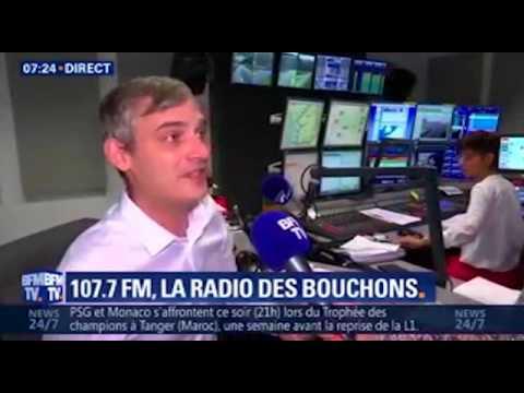 Radio VINCI Autoroutes (107.7) sur BFM TV, le 29 juillet 2017