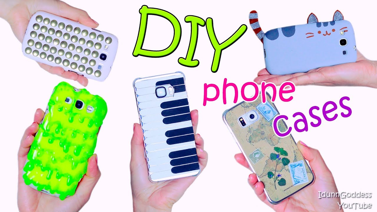 5 diy phone case designs how to make slime pusheen for How to make phone cases at home