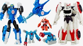 Transformers Robots in Diguise MINI ROBOTS, Sideswipe, Strongarm, SawTooth, and Ratchet, Jazz NEW