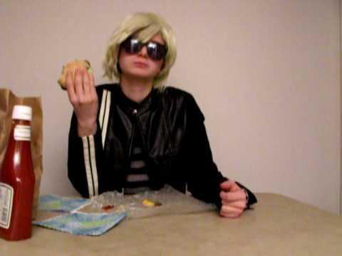 Andy Warhol Eats a Hamburger (spoof)