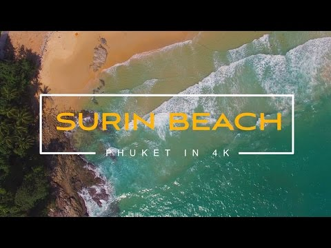 Thailand. Phuket. Surin Beach. 4k video. July 2016