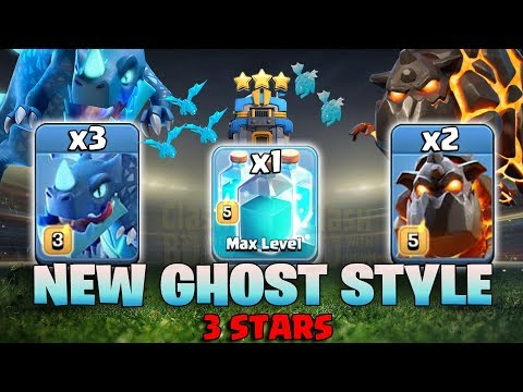 New Ghost Style 3 Star TH12 War Base! Max Clone Spell With LavaLoon E-Drg TH12 Attack Strategy 2019