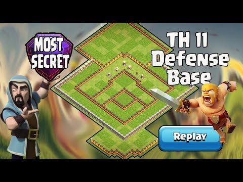 MOST SECRET TH11 NEW DEFENSE BASE LEGEND LEAGUE 2017 WITH REPLAY | ANTI 2 STAR ANTI AIR ANTI DRAGON