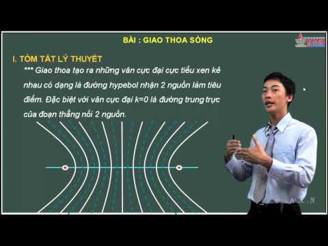 Bài giảng vật lý 12 - Sóng cơ học - Lý thuyết giao thoa sóng - Cadasa.vn