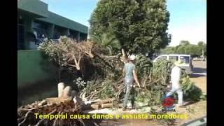 TV Salobinha - Temporal causa danos e assusta moradores em Montes Claros