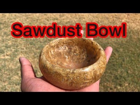 Making A Sawdust Resin Bowl