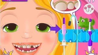 🍭 Рапунцель у стоматолога лечит зубы Игра для девочек Rapunzel at the dentist